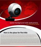 Fond de vecteur avec l'appareil-photo de Web Photo stock