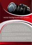 Fond de vecteur avec l'appareil photo numérique Images libres de droits