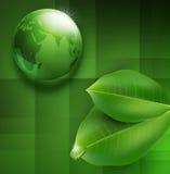 Fond de vecteur avec la boule-goutte verte transparente illustration de vecteur