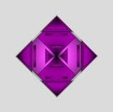 Fond de vecteur avec la triangle pourpre colorée Photos libres de droits