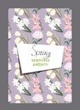 Fond de vecteur avec le modèle sans couture floral Photographie stock