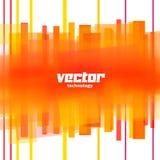 Fond de vecteur avec les lignes brouillées par orange Photos stock