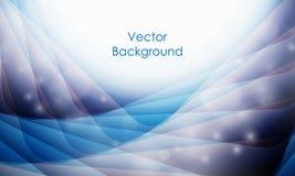 Fond de vecteur avec les lignes onduleuses Photo stock