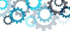 Fond de vecteur avec un élément d'engrenage Composants industriels illustration de vecteur