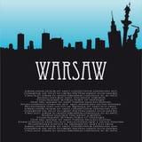 Fond de vecteur avec Varsovie illustration libre de droits