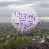 Fond de vecteur brouillé par printemps Photo libre de droits
