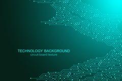 Fond de vecteur de carte mère d'ordinateur avec les éléments électroniques de carte Texture électronique pour l'ordinateur illustration libre de droits
