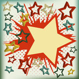 Fond de vecteur d'étoile d'explosion. Photographie stock libre de droits