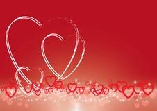 Fond de vecteur d'abrégé sur jour de valentines Photographie stock libre de droits