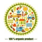 Fond de vecteur d'agriculture biologique Photos libres de droits