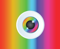 Fond de vecteur d'art d'icône d'arc-en-ciel de globe oculaire Image libre de droits
