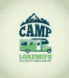 Fond de vecteur d'aventure de région sauvage de camping illustration libre de droits