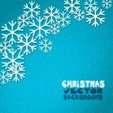 Fond de vecteur d'hiver avec des flocons de neige de vol illustration libre de droits