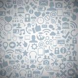 Fond de vecteur d'icônes de Web de media de Socia Images libres de droits