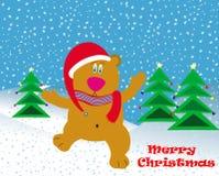 Fond de vecteur de carte de Noël   Image libre de droits