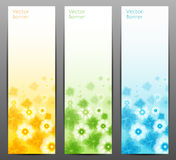 Fond de vecteur de fleur/calibre/bannière abstraits de brochure. Photos libres de droits