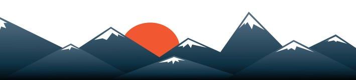 Fond de vecteur de montagne de Fuji Images stock