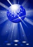 Fond de vecteur de partie de club de danse avec la boule de disco Photo stock