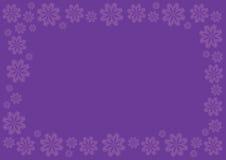 Fond de vecteur de pourpre royal avec la frontière florale Image stock