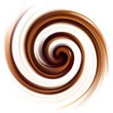 Fond de vecteur de texture crémeuse de tourbillonnement de chocolat Photos libres de droits