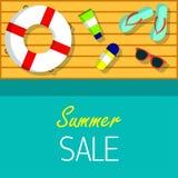 Fond de vecteur de vente d'été pour le Web, bannière, promotion, insecte, couverture, brochure Photographie stock