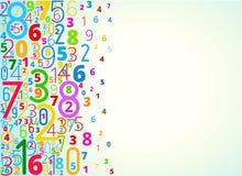 Fond de vecteur des nombres Images libres de droits