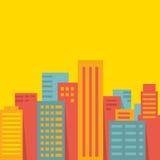 Fond de vecteur : grande ville illustration stock