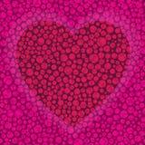 Fond de vecteur la Saint-Valentin avec le coeur Photo stock