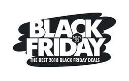 Fond de vecteur de vente de Black Friday - IllustrationBanner - signe, bannière de Web, le 23 novembre - date civile, vente, manu illustration stock