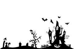 Fond de Veille de la toussaint illustration stock