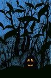 Fond de Veille de la toussaint avec 'bat' et le potiron illustration libre de droits