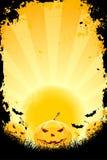 Fond de Veille de la toussaint avec des potirons et des 'bat' illustration libre de droits
