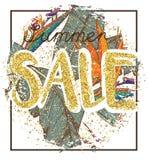 Fond de vente d'or avec des ananas dans le cadre Fond de vente d'or pour l'insecte, affiche, achats, pour le signe de vente, remi Photos libres de droits