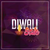 Fond de vente de Diwali avec des feux d'artifice Image stock