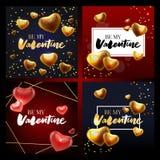 Fond de vente de jour de valentines avec le modèle réglé d'icône Illustration de vecteur Papier peint, insectes, invitation, affi images libres de droits