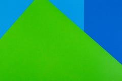 Fond de verdure, bleu et cyan de couleur de papier Photo stock