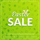 Fond de vert de bannière de vente de Pâques Image libre de droits