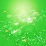Fond de vert de la Science abstraite Photo libre de droits