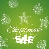 Fond de vert de remise de vente de Noël Image libre de droits