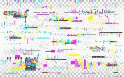 Fond de VHS de probl?me D?formations de couleur sur le contexte transparent Bruit abstrait de Digital Texture de Glitched t?l?vis illustration de vecteur