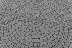 Fond de vieille route de pavé rond dans la forme de cercle Image stock