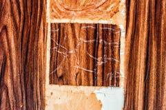Fond de vieux brun en bois Photo libre de droits