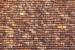 Fond de vieux mur de briques de rouge de vintage photographie stock