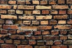Fond de vieux mur de briques de vintage Photos libres de droits