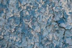 Fond de vieux mur endommagé par bleu Photo stock