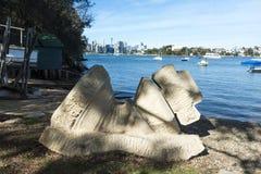 Fond de ville de Greenwich de sculpture en pièce d'échecs photo libre de droits