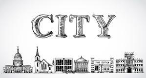 Fond de ville de ville illustration libre de droits