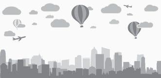 Fond de ville pour faire de la publicité des services d'immobiliers Image libre de droits