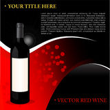 Fond de vin rouge Image stock