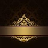 Fond de vintage avec la frontière décorative d'or Photo libre de droits